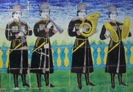 golestan palace wall tiles r.arab