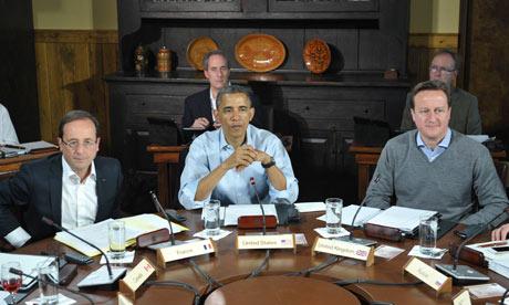 Hollande, Obama and Cameron
