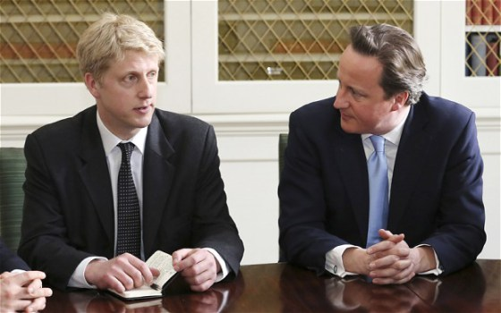 Jo Johnson and David Cameron - 'Eton Mafia', 'Old School tie', 'Jobs for the boys', call it what you want, it adds up to the same thing.