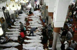 martyrs in Iman mosque now.  We will never forget them. @gelhaddad #Egypt #Anticoup