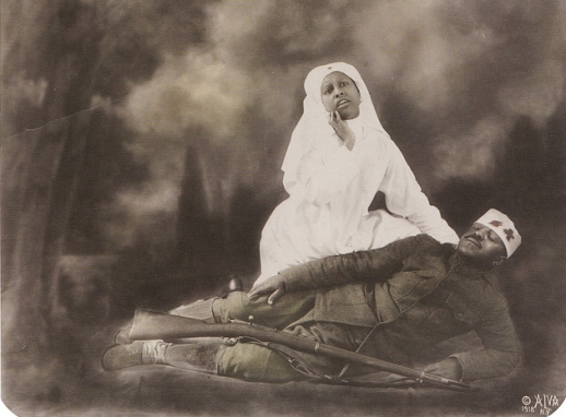 Theatrical Red Cross Nurse and WWI Soldier