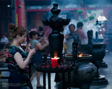 Prayers and Incense Offered at Longshan Temple, both Buddhist and Taoist