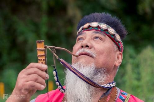Tsou Dignitary in Traditional Attire, Nia'Ucna Village