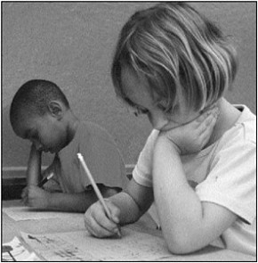 children_writing