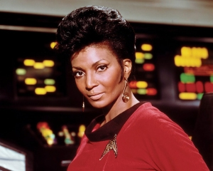 Nichelle Nichols as Uhura of Star Trek.