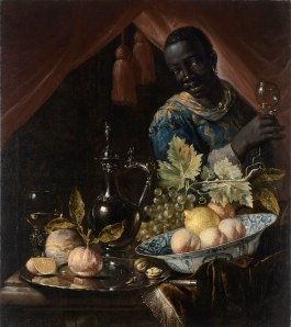 'Still-life with peaches and a lemon' Juriaen van Streek