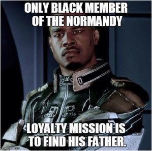 One of many problems with Jacob Taylor's storyline in Mass Effect 2