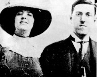 Lovecraft with wife Sonia who claimed she often had to remind him that she herself was Jewish whenever he launched into one of his diatribes.