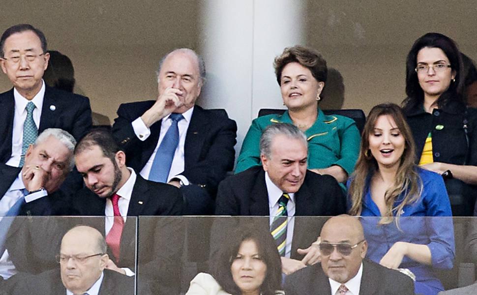 """President Dilma Rousseff and Joseph """"Sepp"""" Blatter"""