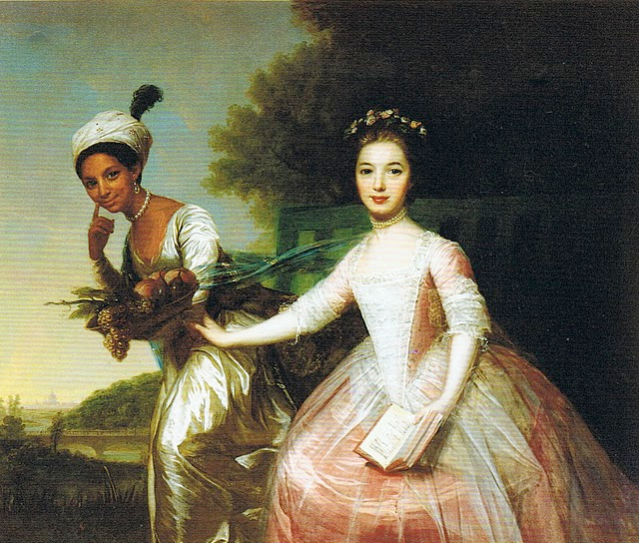 Portrait of Dido Elizabeth Belle (1761-1804) and her cousin Lady Elizabeth Murray (1760-1825)