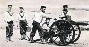 A Royal Navy Gatling Gun Team - Eastern Zululand in South Africa