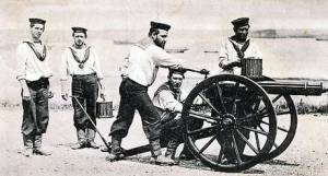 A Royal Navy Gatling Gun Team - Eastern Zululand in South Africa