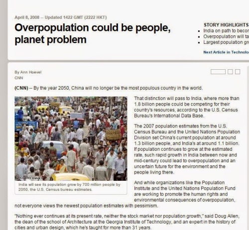overpopulation article