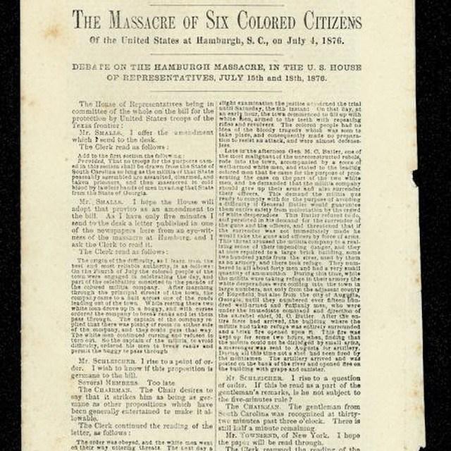 Hamburg Massacre, SC 1876