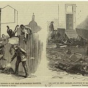 """Murdering Negroes in the rear of the Mechanics Institute,"" New Orleans Riot 1866"
