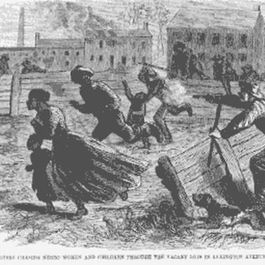 NY Draft Riots- mob hunting black women and children