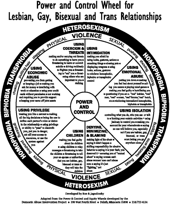 Power And Control Domestic And Intimate Partner Violence In Lgbtq