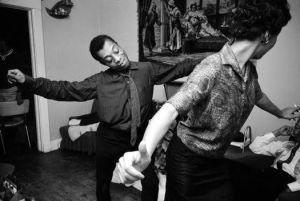 James Baldwin dancing with Lorraine Hansberry