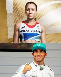 Jessica Ennis and Lewis Hamilton