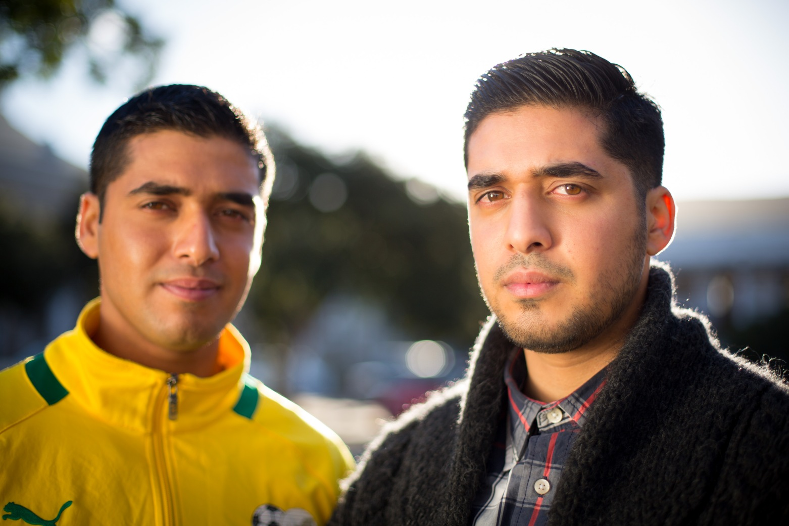 Portrait of the Essop bothers (l) Husain Essop; (r) Hasan Essop Photo credit: Timmy Henny