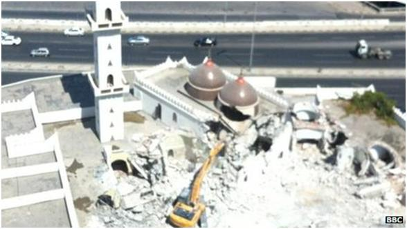 A shrine in the Libyan capital Tripoli venerating a Sufi Muslim saint has been partly destroyed the latest in a series of attacks blamed on ultra-conservative Salafi Islamists. BBC News, 25 August 2012