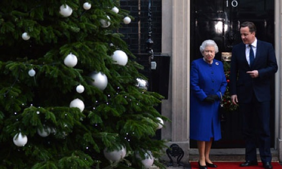 The Queen with David Cameron at No 10
