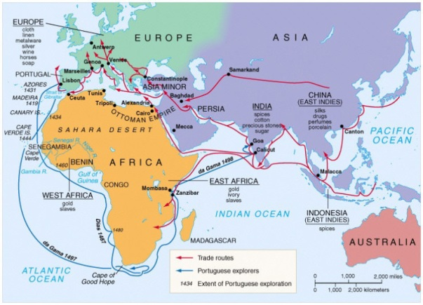 Indian Ocean trade routes