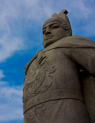 Monument to Zheng He at Stadthuys, Melaka, Malaysia