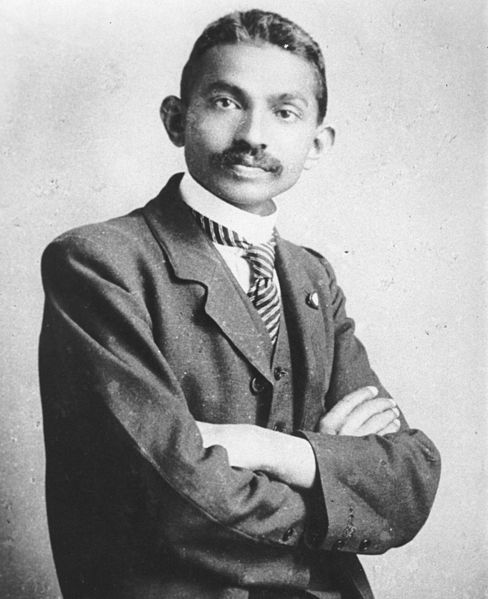 Gandhi as a young lawyer in South Africa, 1906