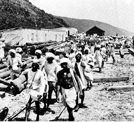 Arrival of indentured labourers in South Africa