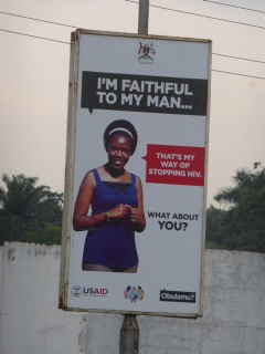 USAID poster in Kampala