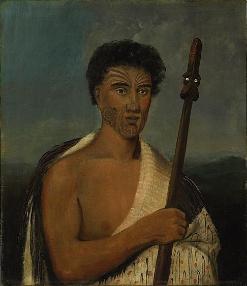 Portrait of Maori anti-colonial fighter and political prisoner, Hohepa Te Umoroa. (Portrait: William Duke, circa 1846)