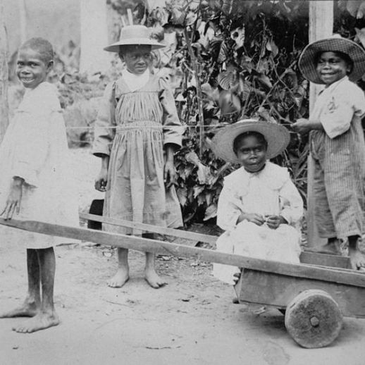South Sea Islander children at Innisfail, Queensland, ca. 1902-1905
