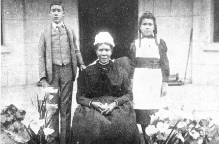 Martha with John and Mary, her children with Harry Grey
