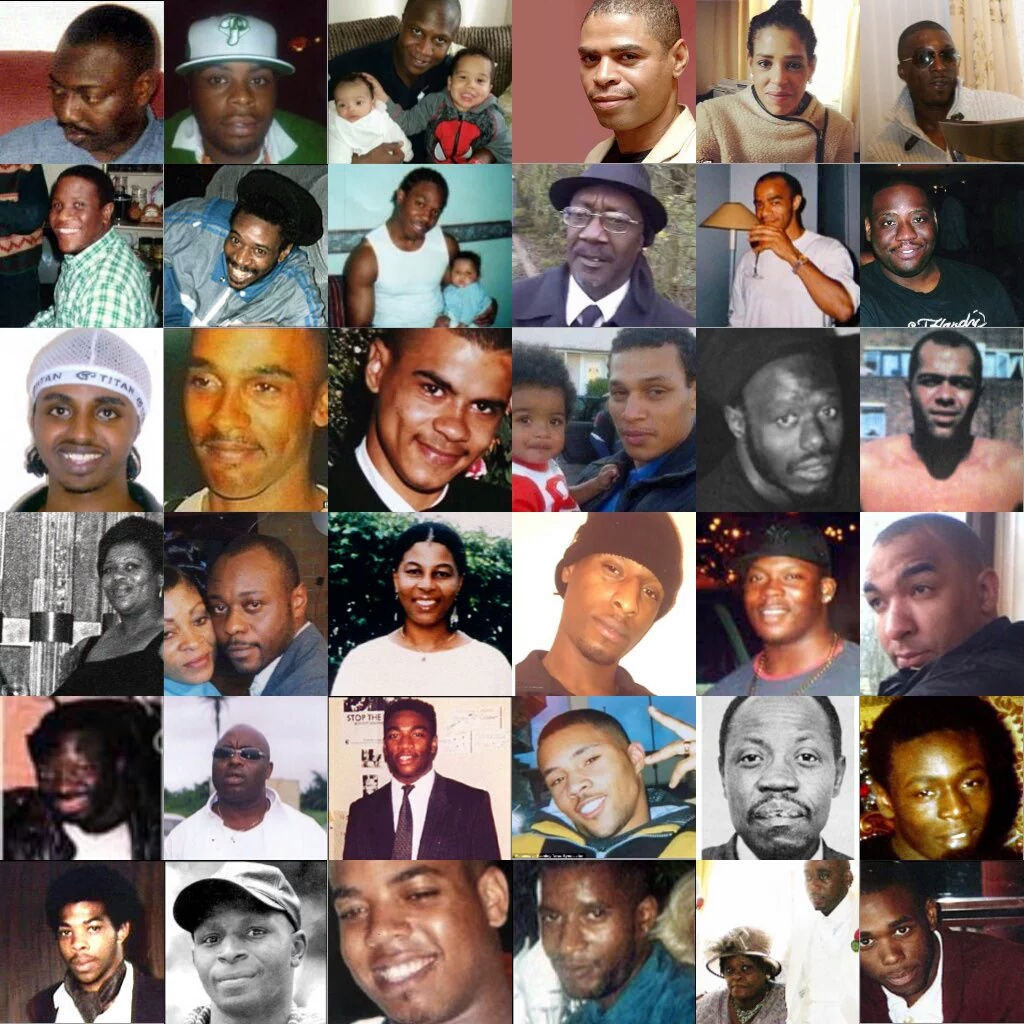 RIP: Smiley Culture, Mark Duggan, Sean Rigg, Jimmy Mubenga, Azelle Rodney, Stephen Lawrence,  Joy Gardener, Mzee Mohammed, Seekuh Bayou, Leon Patterson and many more