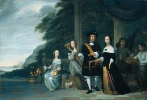 Batavian merchant Pieter Cnoll, his family and the family's slave