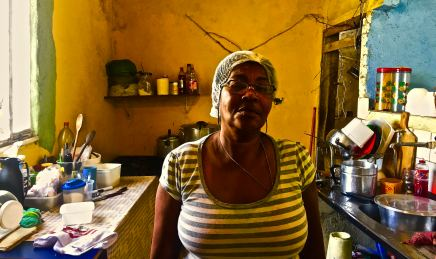 "She's known in Vidigal as Tia (Aunt in Portuguese) Rosa. When I spoke to her she said even though she doesn't have anything against foreigners moving to the favela she said bluntly they are the main reason why rental prices in the area have skyrocketed. She makes a fuss every time she goes to the local supermarket and prices are always higher. ""They say I'm a troublemaker but I just know my rights."""