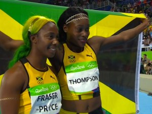 shelly-ann-fraser-pryce-elaine-thompson