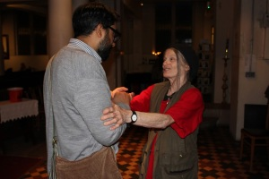 Artist May Ayre meeting Talha as a freeman