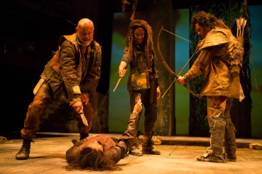 As Guideria in Cymbeline (with Graham Turner as Belarius, James Cooney as Arviragus, and Bethan Cullinane as Innogen)