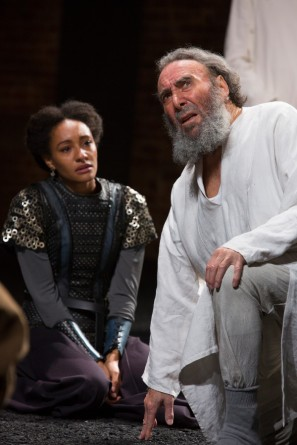 Natalie as Cordelia in King Lear (with Antony Sher as Lear)