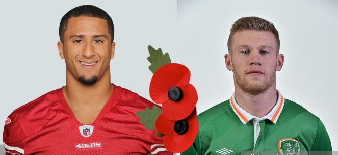 Colin Kaepernick and James McClean