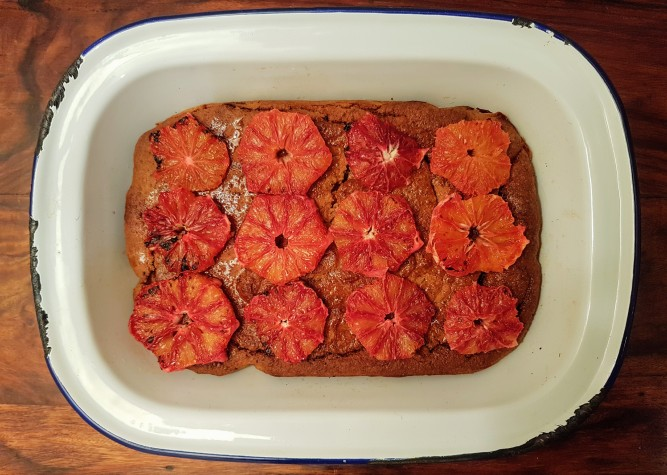 Blood Orange & Cardamom Cake by Henna Zamurd-Butt
