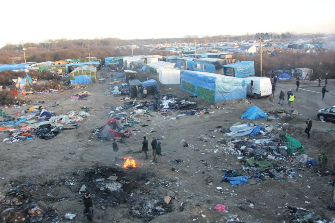 Calais migrant camp by Malachy Brown