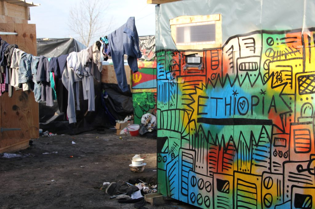 Calais migrant camp by Malachy Browne