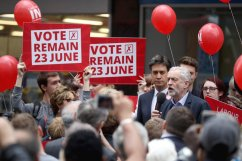 Jeremy Corbyn And Ed Miliband Campaign For Labour In
