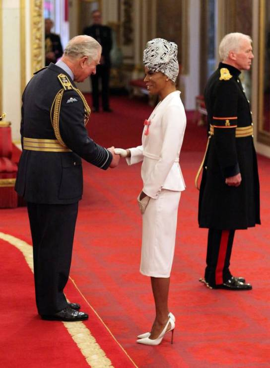 Niomi McLean-Daley (also known as Ms Dynamite), right, is made an MBE by the Prince of Wales