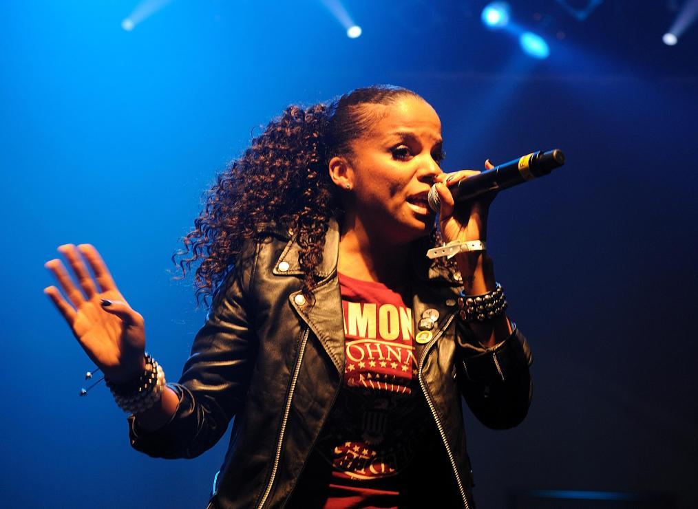 Ms Dynamite performing